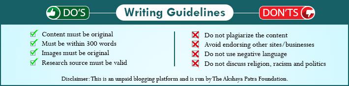 Guest Blogging for Akshaya Patra |