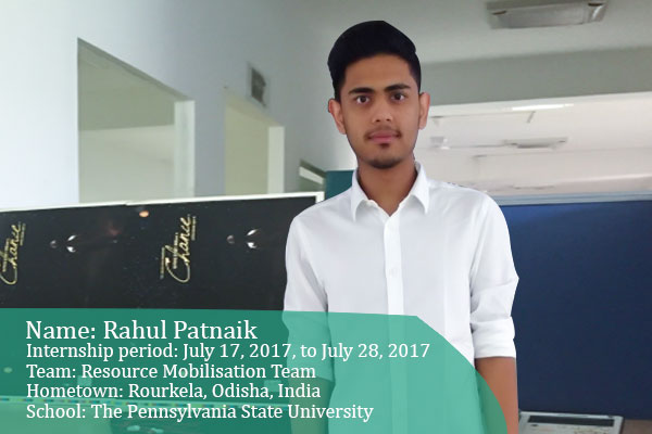 Rahul - Intern at Akshaya Patra