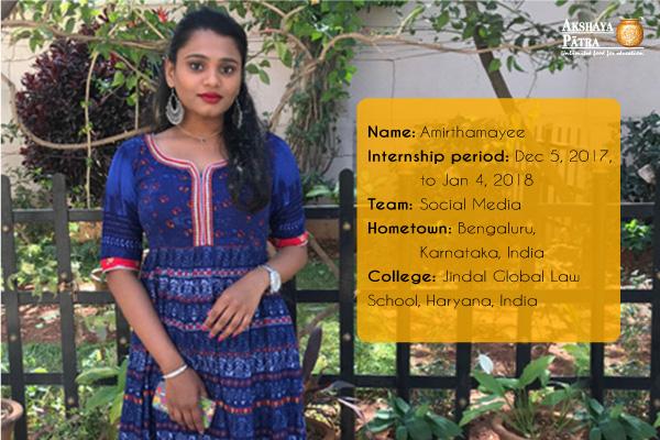 AMIRTHA-intern-Akshaya Patra