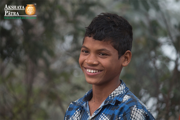 Bishnu - Akshaya Patra beneficiary