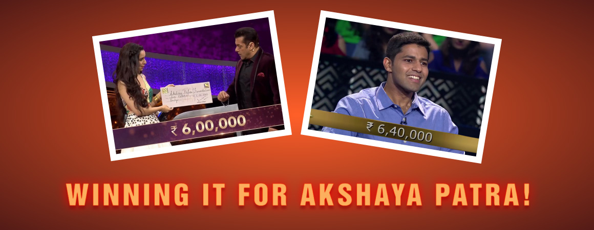 Winning it for Akshaya Patra