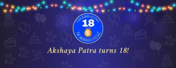 akshaya patra 18th anniversary