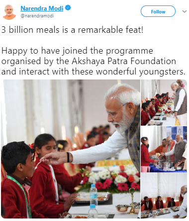 3 billionth meal tapf