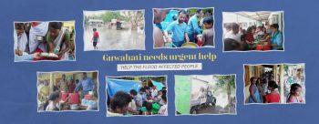 guwahati flood relief banner