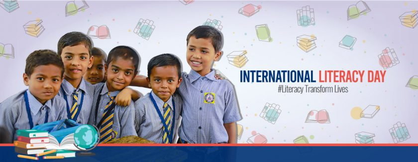 literacy day banner