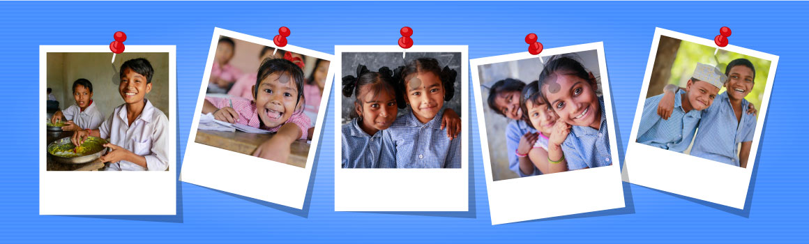 NGO Collage of small school children smiling