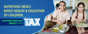 banner- support midday meal and save tax